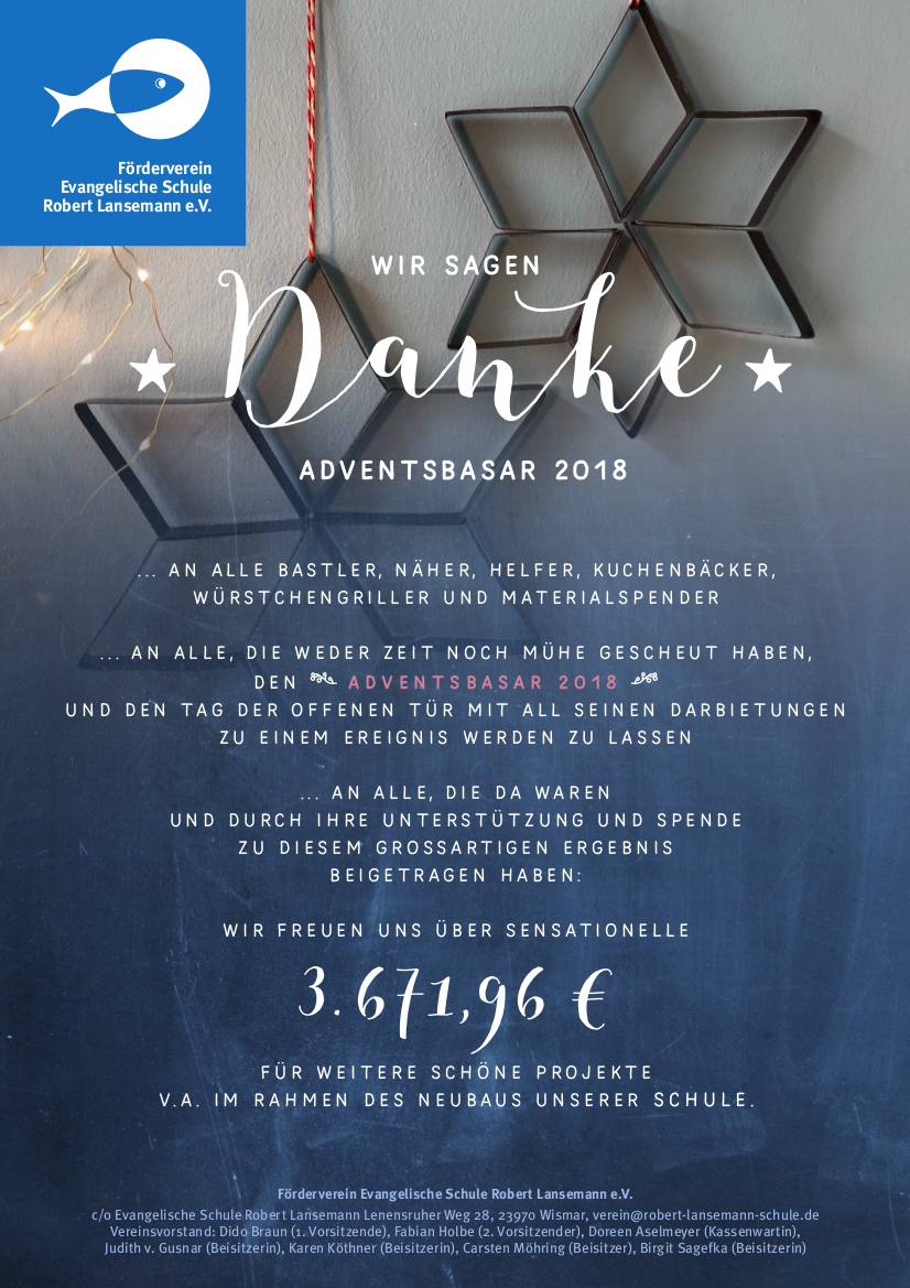Adventsbasar Danke2018
